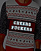 Light-Up Cheers Fuckers Ugly Christmas Sweater