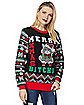 Merry X-Mas Bitches Cat Ugly Christmas Sweater