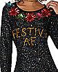 Festive AF Ugly Christmas Sweater Tunic