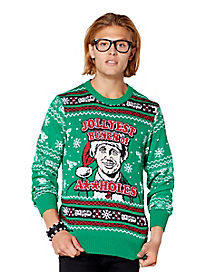 Jollyest Bunch Of Assholes Ugly Christmas Sweater - National Lampoon's Christmas Vacation