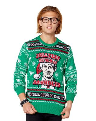 Light Up Assholes Ugly Christmas Sweater National Lampoons
