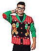Angry Gingerbread Ugly Christmas Sweater Cardigan