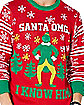 Santa OMG I Know Him Ugly Christmas Sweater - Elf