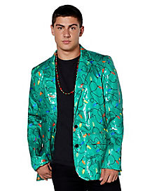 Light Up Sequin Christmas Light Blazer