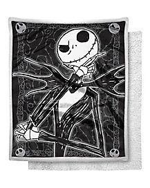 Dark Cover Jack Skellington Fleece Blanket - The Nightmare Before Christmas