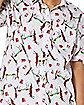 Reindeer Beer Pong Button Down Shirt