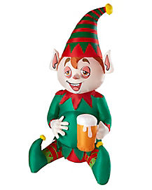 Light Up Drunk Elf Inflatable - Decorations