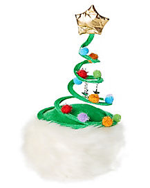 Springy Swirl Christmas Tree Hat