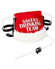 Santa's Drinking Team Drinking Hat