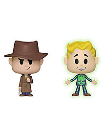 Mysterious Stranger and Adamantium Skeleton Funko Vynl. Figures 2 Pack - Fallout