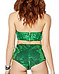 Green Sequin Bra