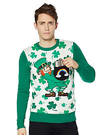 Shamrock Light-Up Leprechaun Sweater