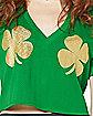 Shamrock Cropped Lucky AF St. Patrick's Day Jersey