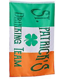 St. Patrick's Day Irish Drinking Team Flag