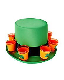 Shamrock Shot Glass St. Patrick's Day Top Hat