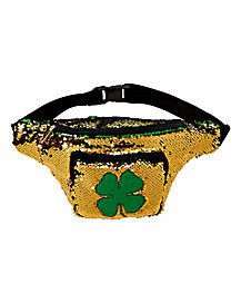 Magic Sequin Shamrock St. Patrick's Day Fanny Pack