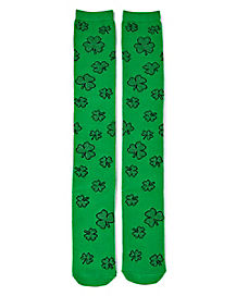 Shamrock St. Patrick's Day Knee High Socks