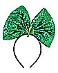 Light Up Sequin Bow St. Patrick's Day  Headband