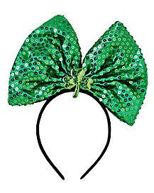 Light Up Sequin Bow St. Patrick's Day  Headband