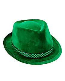 Green Checkered St. Patrick's Day Fedora Hat