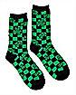 Checkered Shamrock St. Patrick's Day Crew Socks