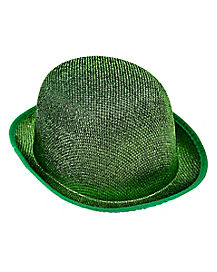 Green Shimmer St. Patrick's Day Bowler Hat