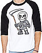 Skull Trooper Raglan T Shirt - Fortnite
