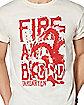 Fire Targaryen Dragon T Shirt - Game of Thrones