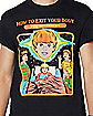 How To Exit Your Body T Shirt - Steven Rhodes