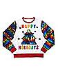 Light-Up Happy Holigays Rainbow Sweatshirt
