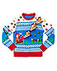 Light-Up 3D Santa Sleigh Ugly Christmas Sweater