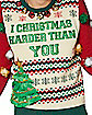 Light-Up I Christmas Harder Than You Ugly Christmas Sweater