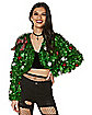 Tinsel Bolero Ugly Christmas Cropped Jacket