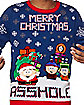 Light-Up Merry Christmas Asshole Ugly Christmas Sweater - South Park