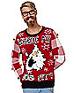 Light-Up Where My Hos At Ugly Christmas Sweater
