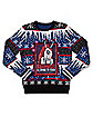 Light-Up Krampus Fair Isle Ugly Christmas Sweater