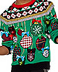 Light-Up Mixed Ornaments Ugly Christmas Sweater