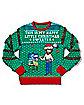 Light-Up Bob Ross Happy Little Christmas Ugly Christmas Sweater