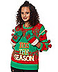 Light-Up Tits the Season Ugly Christmas Sweater