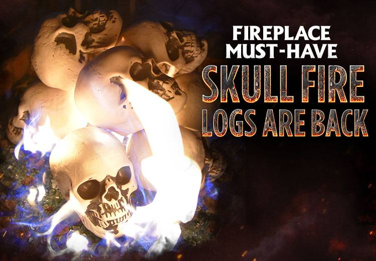 Shop Skull Fire Logs