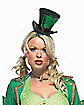 St. Patty's Mini Green Top Hat With Veil