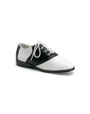 Saddle Shoes History Black and White Saddle Shoes  - Size 10 - by Spirit Halloween $29.99 AT vintagedancer.com