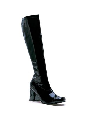 Retro Boots, Granny Boots, 70s Boots Black Go Go Boots  - Size 10 - by Spirit Halloween $34.99 AT vintagedancer.com