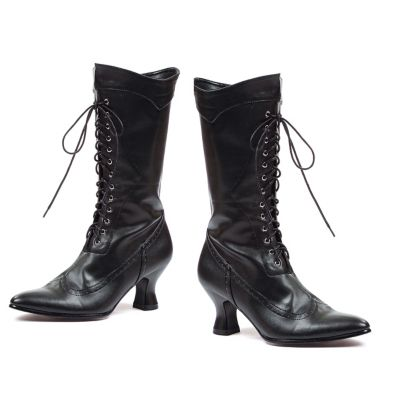 Victorian Costumes: Dresses, Saloon Girls, Southern Belle, Witch Black Victorian Boot by Spirit Halloween $39.99 AT vintagedancer.com