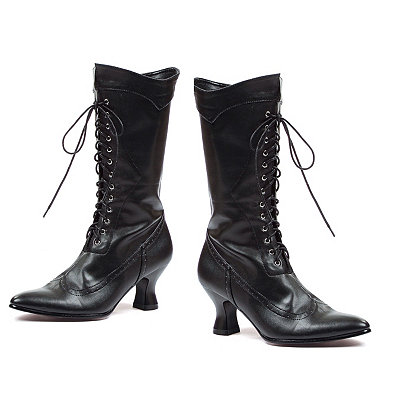Victorian Inspired Womens Clothing Black Victorian Boot $39.99 AT vintagedancer.com