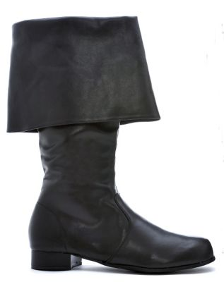 Steampunk Boots and Shoes for Men Black Captain Boots  - Size 1213 - by Spirit Halloween $49.99 AT vintagedancer.com