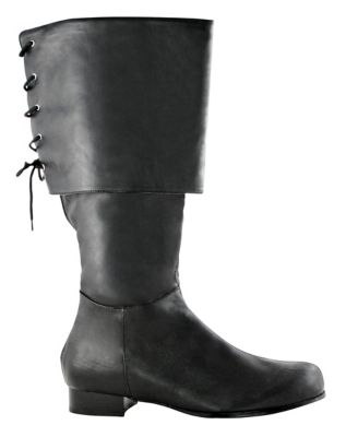 Steampunk Boots and Shoes for Men Black Pirate Boots  - Size 1213 - by Spirit Halloween $42.99 AT vintagedancer.com