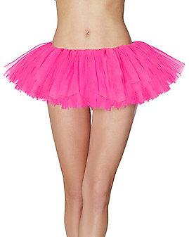 Adult Hot Pink Organza Tutu