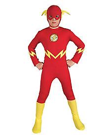 Kids The Flash One Piece Costume - DC Comics