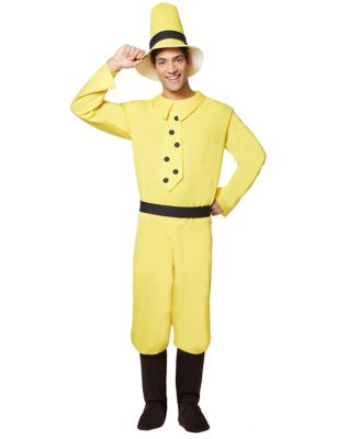 1930s Men's Clothing Adult Man in Yellow Hat Costume - Curious George by Spirit Halloween $39.99 AT vintagedancer.com